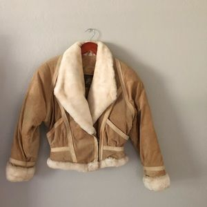 Vintage Unisex Wilson's Leather Fur Jacket - XS